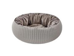 Cama Curver Cozy Pet Knit Sandy com Almofada