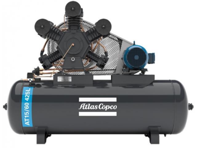 Compressor Pistão AT15/60 425L 220/380/440/760V 3F IP55 60HZ 175PSI W
