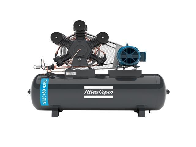 Compressor Pistão AT20/80 425L 220/380V 3F IP55 60HZ 175PSI W