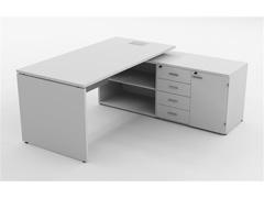 Mesa Gerencial Painel 170X160  Branca Direita