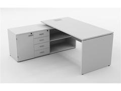 Mesa Gerencial Painel 170X160  Branca Esquerda