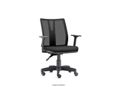 Cadeira Addit Operacional Preta Rodízio Carpete - 0