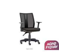 Cadeira Addit Operacional Preta Rodízio Piso Duro - 0