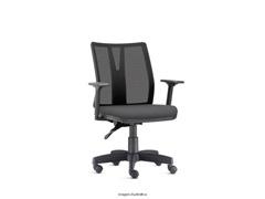 Cadeira Addit Operacional Cinza Rodízio Carpete - 0
