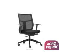 Cadeira Time Diretor Assento Preto Rodízio Piso Duro
