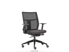Cadeira Time Diretor Assento Cinza Rodízio Carpete