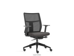 Cadeira Time Diretor Assento Cinza Rodízio Piso Duro - 0
