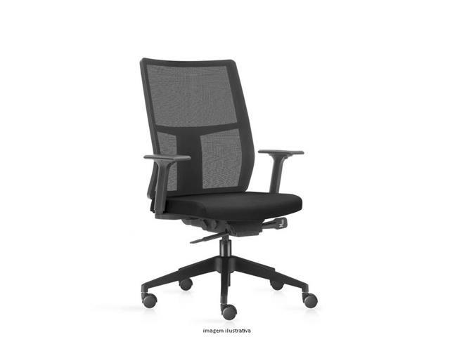 Cadeira Time Presidente Assento Preto Rodízio Carpete