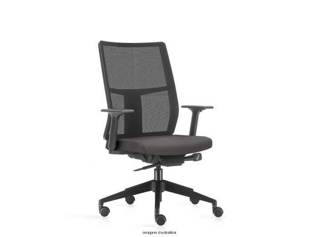 Cadeira Time Presidente Assento Cinza Rodízio Piso Duro