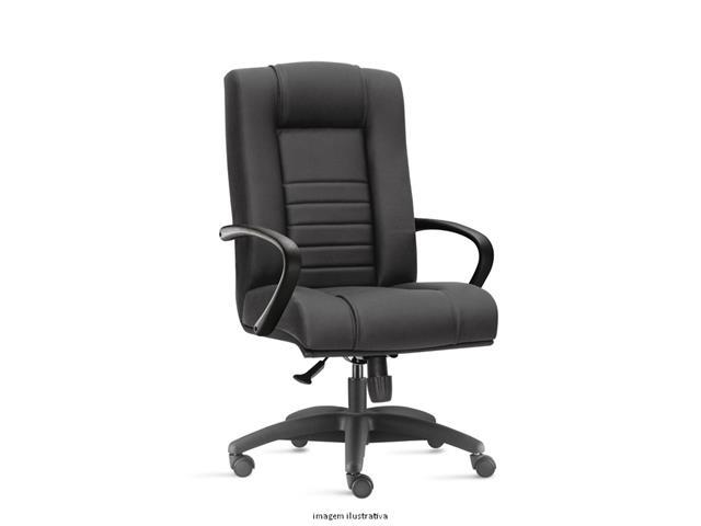 Cadeira New Onix Class Presidente Preta Rodízio Piso Duro