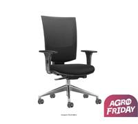 Cadeira Grand Preta Rodízios Piso Duro - 0