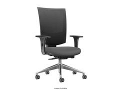 Cadeira Grand Cinza Rodízios Carpete