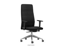 Cadeira Quadry Preta Rodízios Carpete - 0
