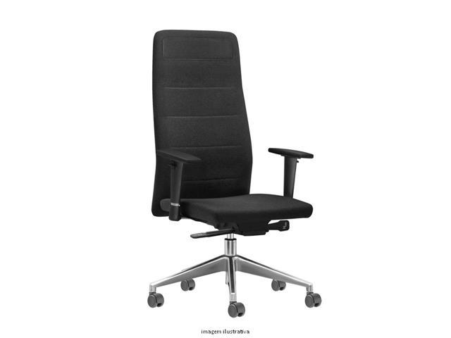 Cadeira Quadry Preta Rodízios Piso Duro
