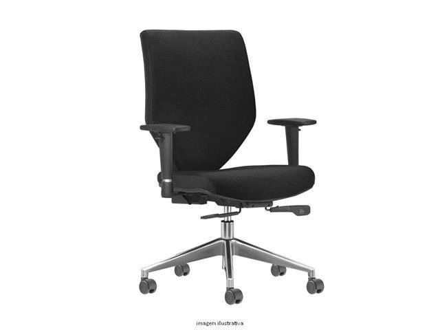 Cadeira Andy Presidente Preta Rodízio Piso Duro