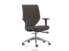 Cadeira Andy Presidente Cinza Rodízio Carpete