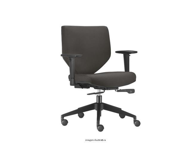 Cadeira Andy Diretor Cinza Rodízio Carpete