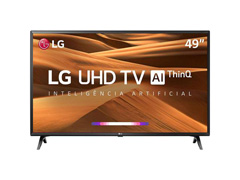 "Smart TV LED 49"" LG UHD 4K ThinQ AI TV HDR webOS 4.5 Wi-Fi 3HDMI 2USB"