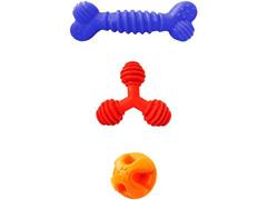 Kit Brinquedo Raças Pequenas Furação Pet 3 Peças