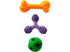 Kit Brinquedo Raças Médias Furação Pet 3 Peças