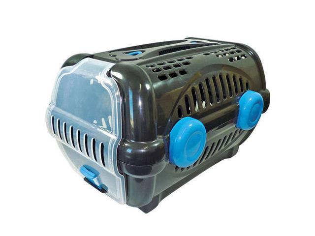 Caixa de Transporte Furacão Pet Luxo Tamanho 2 Azul e Preto