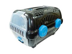 Caixa de Transporte Furacão Pet Luxo Tamanho 3 Azul e Preto