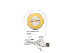 Mini Escova Sônica Multilaser Bella para Limpeza Facial Amarela - 3