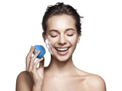 Mini Escova Sônica Multilaser Bella para Limpeza Facial Azul - 4