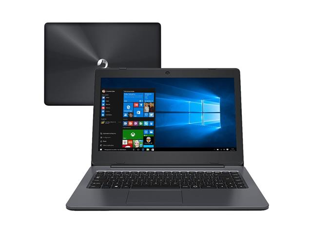 "Notebook Positivo Intel® Atom® Quad Core 32GB 2GB 14"" Windows 10 Cinza"
