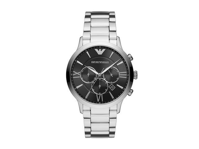 Relógio Emporio Armani Masculino AR11208/1KN Prata Analógico