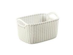 Cesto Organizador Curver Knit Trançado Retang 3 Litros Oasis White