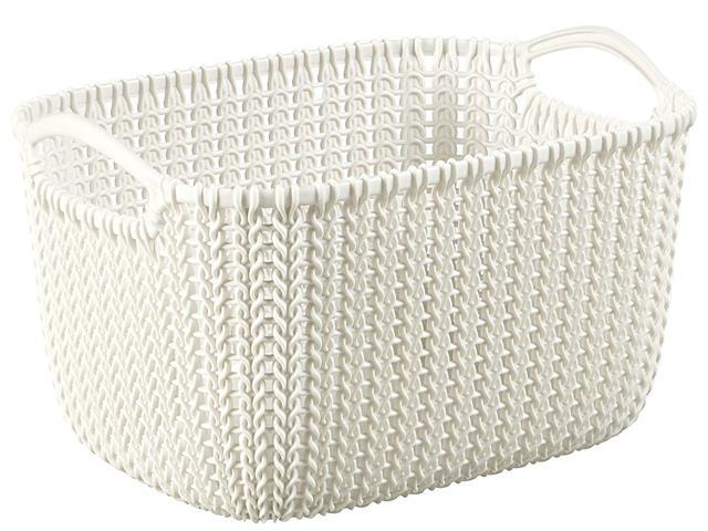Cesto Organizador Curver Knit Trançado Retang 8 Litros Oasis White