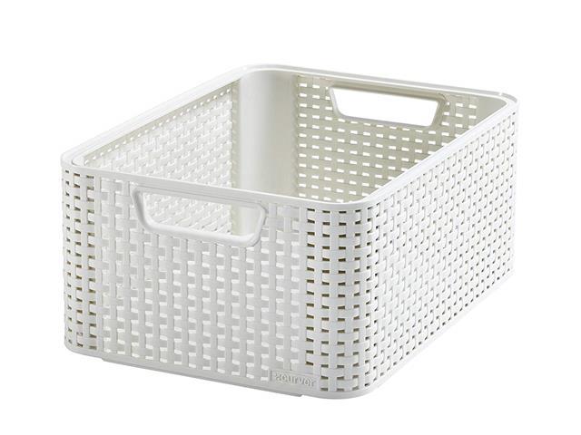 Cestos Organizadores Curver Style 18 Litros Off White