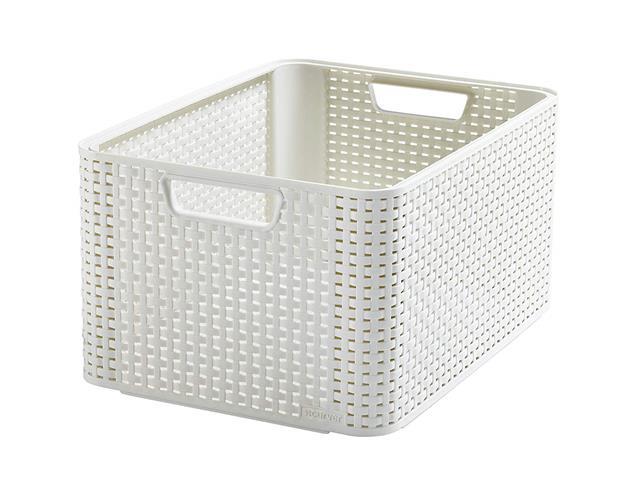 Cestos Organizadores Curver Style 30 Litros Off White