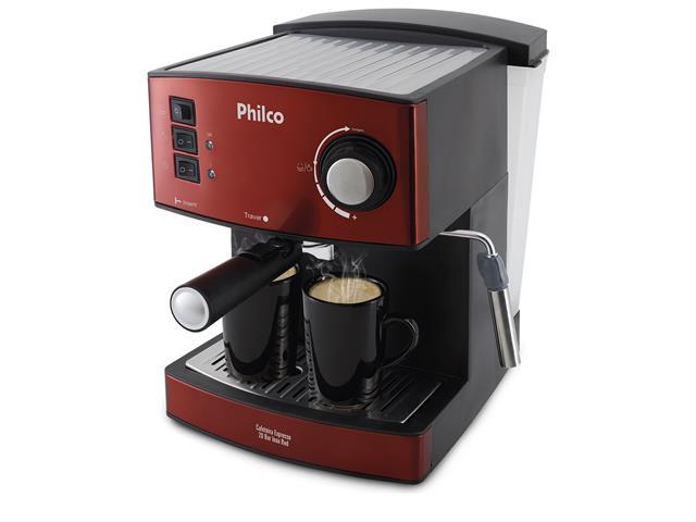 Cafeteira Elétrica Philco Expresso 20 Bar Inox Red 850W
