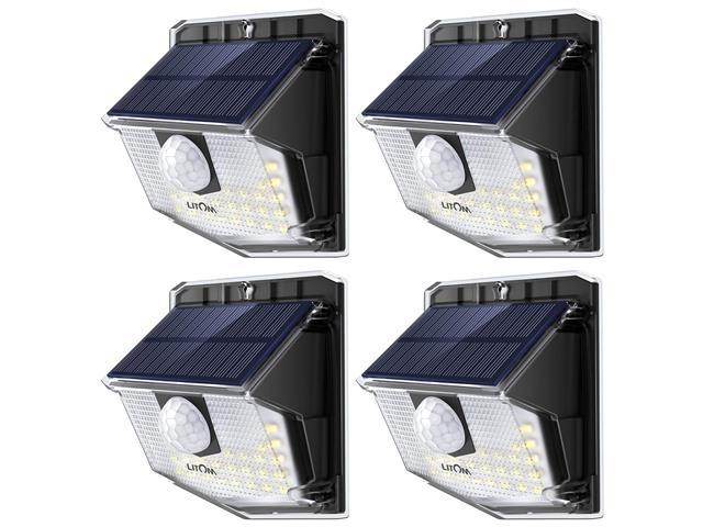 4 Luminárias Litom 30 LED por Energia Solar com Sensor de Movimento