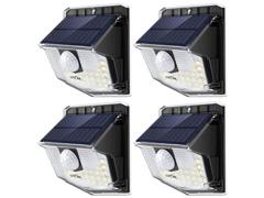 4 Luminárias Litom 30 LED por Energia Solar com Sensor de Movimento - 0