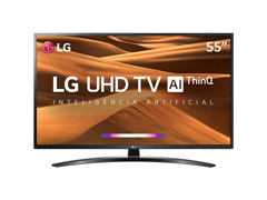 "Smart TV LED 55"" LG UHD 4K ThinQ AI TV HDR Ativo webOS 4.5 3HDMI 2USB"