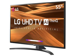 "Smart TV LED 55"" LG UHD 4K ThinQ AI TV HDR Ativo webOS 4.5 3HDMI 2USB - 4"
