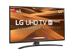 "Smart TV LED 55"" LG UHD 4K ThinQ AI TV HDR Ativo webOS 4.5 3HDMI 2USB - 1"