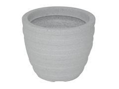 Vaso Inca Tramontina Basic em Polietileno 24 cm Mármore