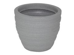 Vaso Inca Tramontina Basic em Polietileno 24 cm Cimento