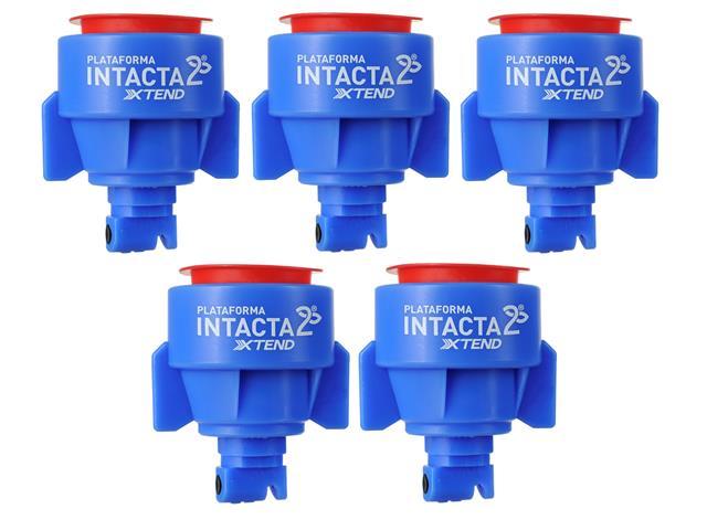 Combo 5 Unidades Pontas para Pulverização Teejet INTACTA2 TTI 03 Azul