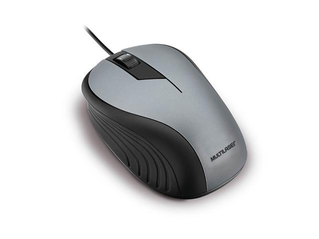 Mouse Multilaser Optico Emborrachado 1200dpi