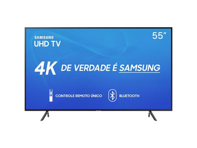 "Smart TV LED 55"" Samsung Ultra HD 4K HDR c/Conv.TV Digital 3 HDMI 2USB"