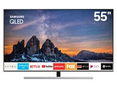 "Smart TV QLED 55""Samsung UHD 4K Pontos Quânticos Q80R HDR 4HDMI 240Hz"