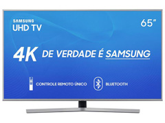 "Smart TV LED 65"" Samsung Ultra HD 4K HDR c/Conv.TV Digital 3 HDMI 2USB"