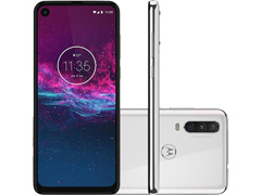 "Smartphone Motorola One Action 128GB 6.3""4G Câm 12+5+16MP Branco Polar - 0"