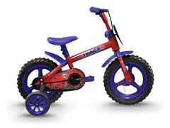 Bicicleta Infantil Track Bikes Arco Íris Aro 12 Vermelho e Azul - 1