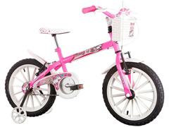 Bicicleta Infantil Track Bikes Monny com Cestinha Aro 16 Rosa - 0